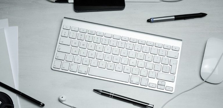 A wireless keyboard.